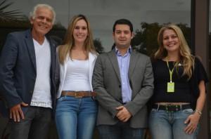 Durval Rodrigues (diretor da ABBM), Janaína  Nasser, delegada do Conselho Regional de Guarapuava, Bruno Oliva (diretor da ABBM), e Camila  Ribeiro, coordenadora de Biomedicina da UTP. - Copia