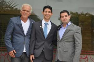 Durval Rodrigues (diretor da ABBM), Thiago Yuiti Castilho Massuda, perito oficial da Polícia Científica do Paraná, e Bruno Oliva (diretor da ABBM).