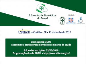 II Encontro de Biomédicos do Paraná